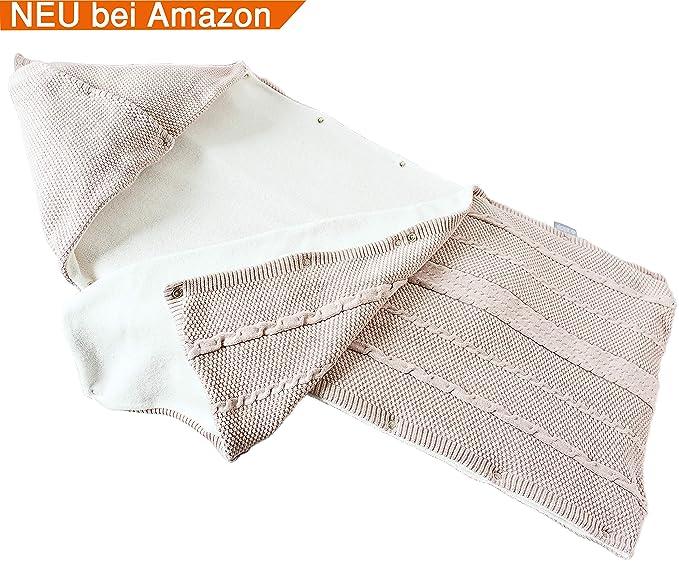 sei Design Saco de Dormir Bebé Acolchada 100% Algodón| Manta de Punto | Manta