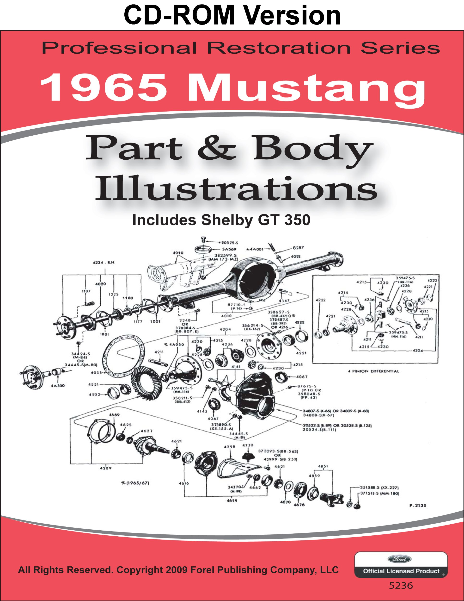 1965 mustang part and body illustrations multimedia cd may 1 2009