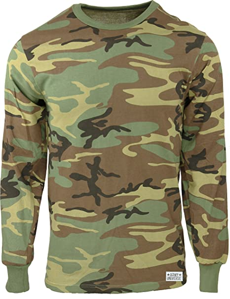 Relatively Amazon.com: Military Camouflage Long Sleeve T-Shirt Camo Army Tee  MK13