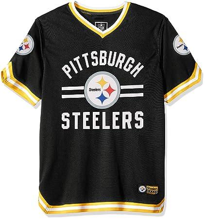 Icer Brands NFL Pittsburgh Steelers - Playera de Manga Corta para Hombre c174b9f7adf96