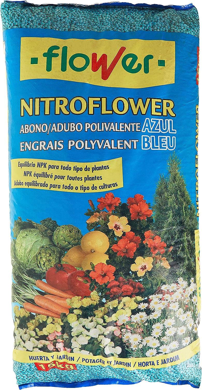 Flower 10539 - nitroflower - abono polivalente Azul, 15 Kg: Amazon.es: Jardín
