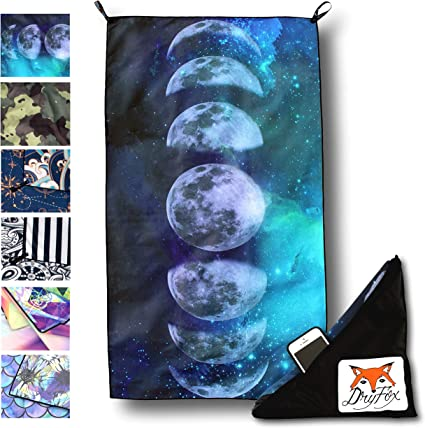 Quick Dry Microfiber Beach Towel Artistic Dragon Lightweight Super Absorbent Travel Towel for Camping Hiking Beach15.7 X 31.5