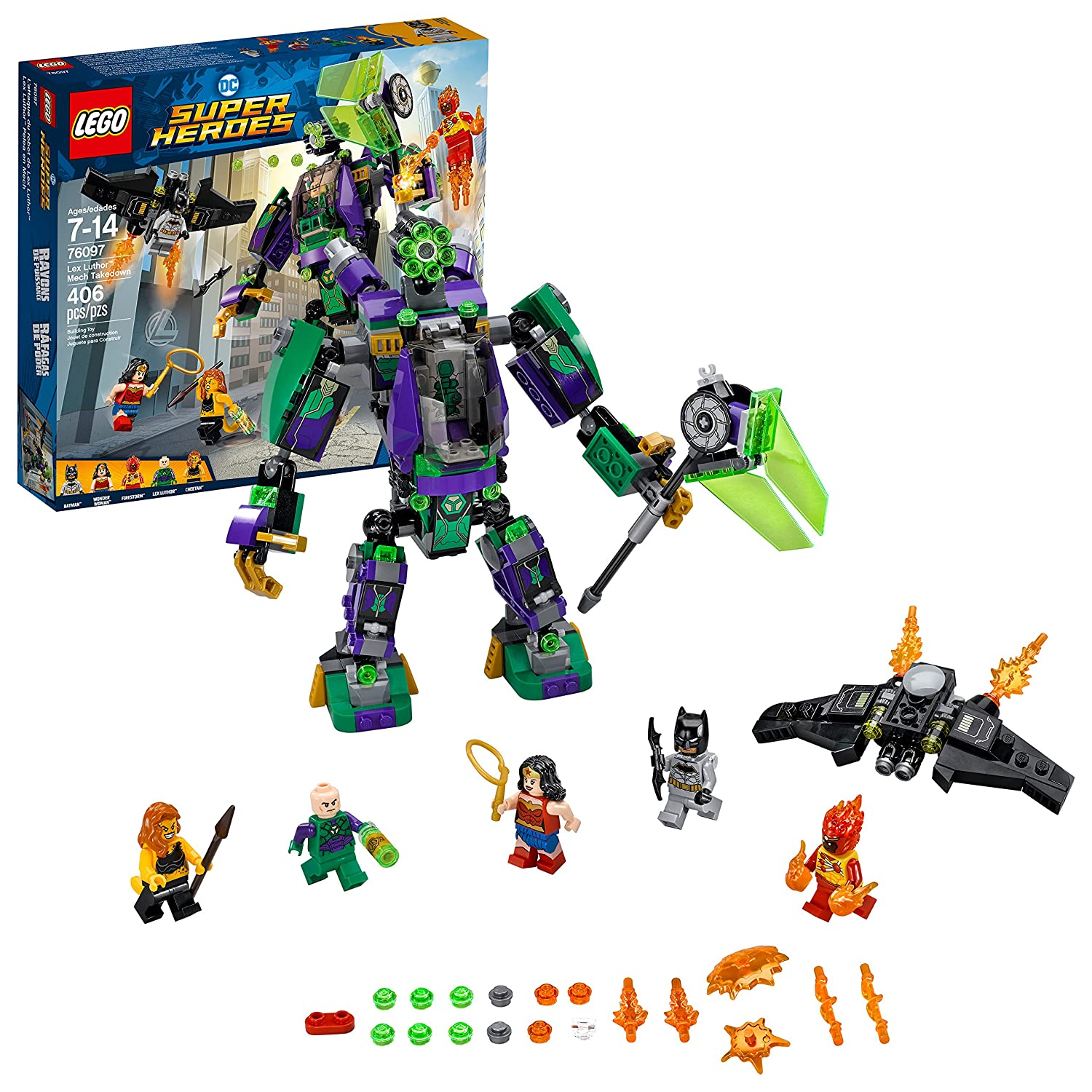 LEGO Superheroes 6212664 Lex Luthor Mech Takedown 76097 Building Kit (406 Piece)