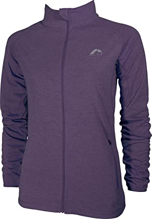 d9e1fa9bbb3b4 More Mile Marl Full Zip Long Sleeve Womens Running Top - Purple:  Amazon.co.uk: Clothing