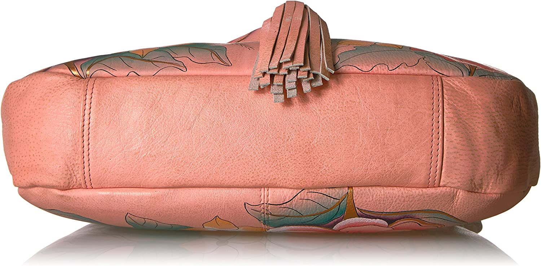 Anuschka Bolso de trabajo cl/ásico de cuero genuino para mujer Exterior pintado a mano