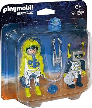 PLAYMOBIL- Duo Pack Astronauta y Robot Juguete, Multicolor (geobra ...