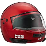 Studds Full Face Helmet Ninja Pastel (Plain Cherry Red, L)