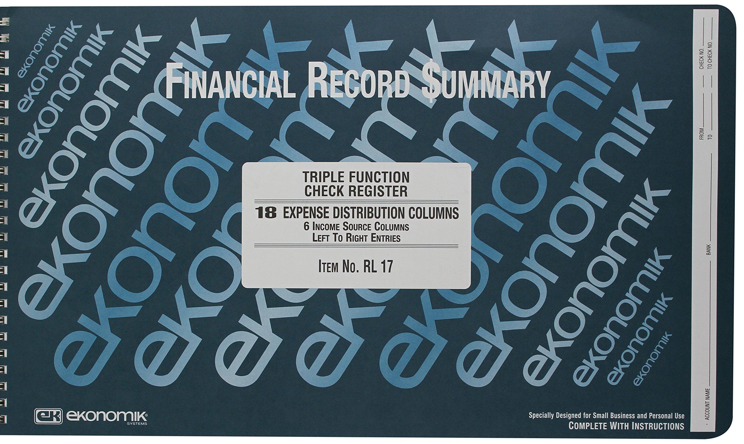 Ekonomik Std. Size Triple Function Check Registry (EKORL17)