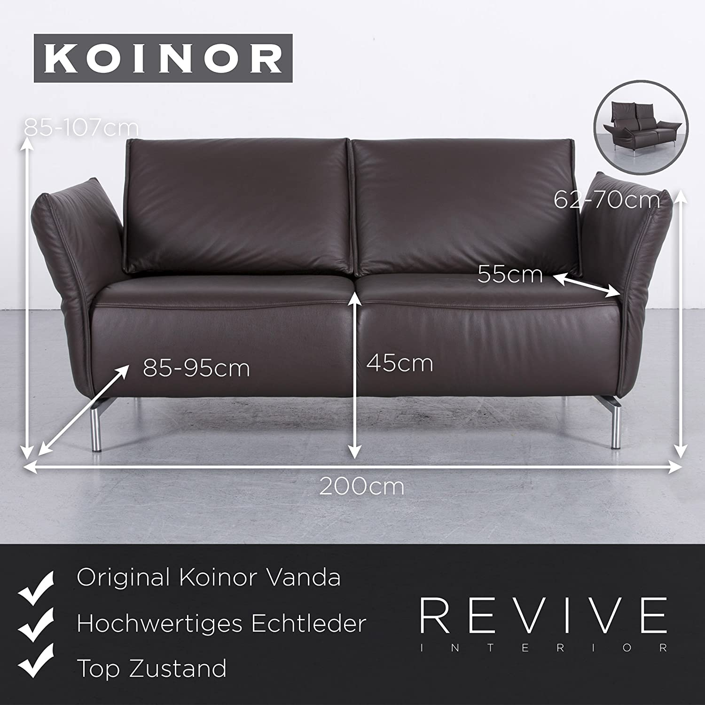 Koinor Vanda Leder Sofa Braun Zweisitzer Couch Echtleder Funktion 5909 Sanaa Amazon Co Uk Kitchen Home