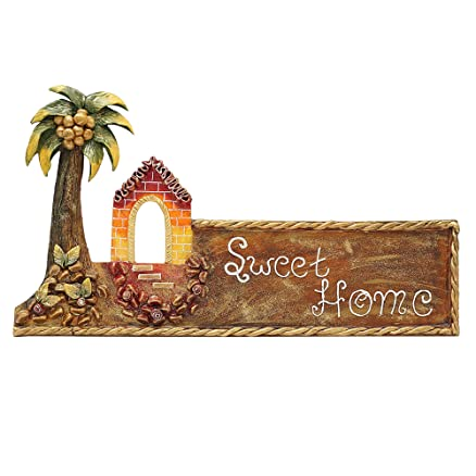 Buy 999Store sweet home hut main door name plate hand crafted ...