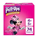 Pull-Ups Learning Designs for Girls Potty Training Pants, 4T-5T (38-50 Pound), 74 Count (Packaging May Vary)