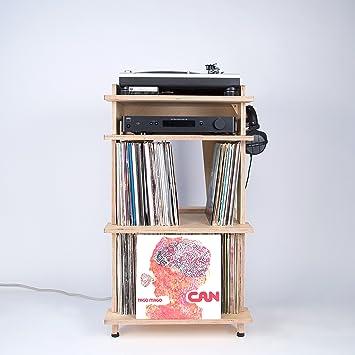 Meuble Pour Platine Et Disques Vinyles Line Phono Pour