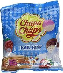 Chupa Chups Sachet de 16 Sucettes Milky 192 g - Lot de 8