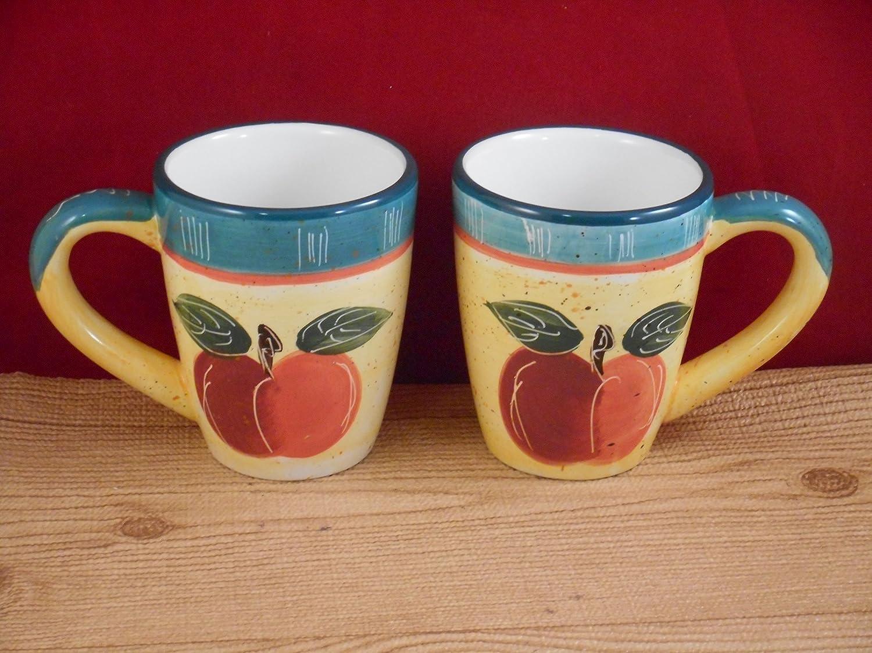 Amazon Com Cbk Ltd Apple Fruit Coffee Tea Mug Set Of 2 Kitchen Dining