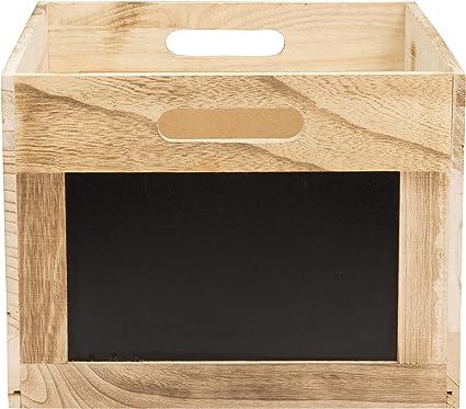 Caja de madera con pizarra sobre 2 lados: Amazon.es: Oficina y papelería