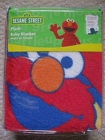 Amazon.com   Sesame Street Elmo Plush Baby Blanket - Red   Nursery Blankets    Baby cd2488159