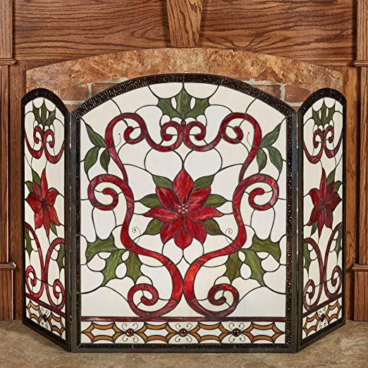 Amazon.com: Touch of Class Celyn Decorative Fireplace Screen Red