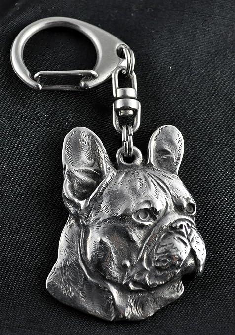 Amazon.com: Bulldog francés (right-oriented), perro llavero ...