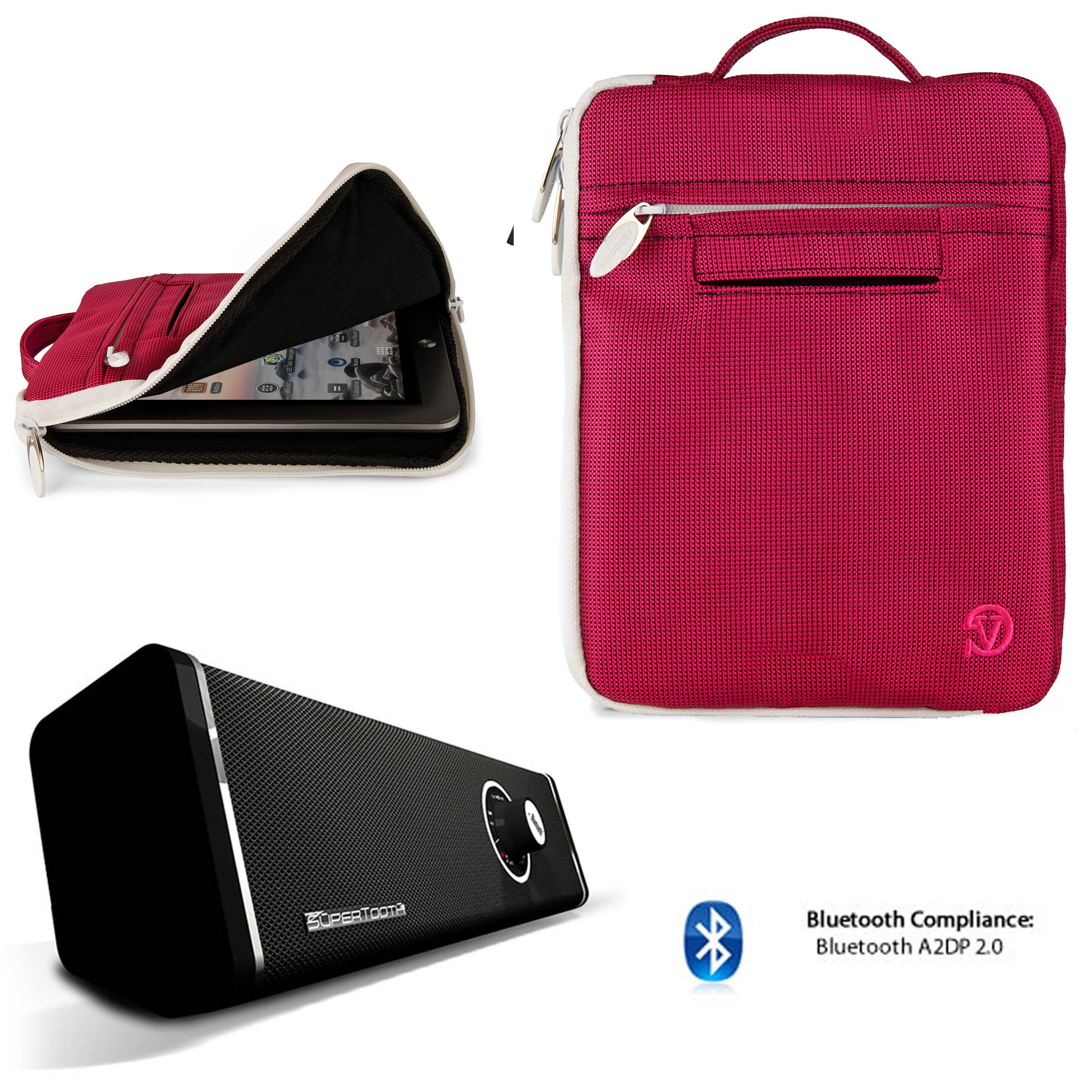 Hydei Travel Nylon Padded Sleeve For Asus Nexus 7 (2013 & 2012) AT&T T-Mobile Verizon Unlocked + Bluetooth Speaker