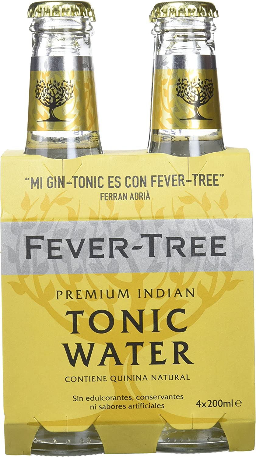 Fever-Tree - Tónica Premium Natural Pack de 4 Botellas 20cl
