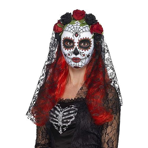 Smiffys 44639 Day of the Dead Senorita Mask (One Size)
