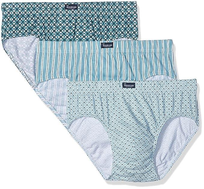 Abanderado Slip Cerrado x3, Slips para Hombre, Azulejos Rayas Verde + Azul damero,