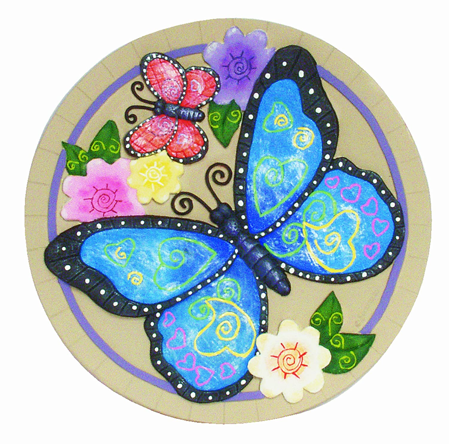 Amazon.com : Spoontiques Butterfly Stepping Stone : Outdoor Decorative  Stones : Garden U0026 Outdoor