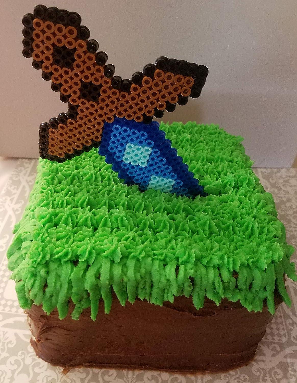 Sword cake topper - 10 piece mining cake topper
