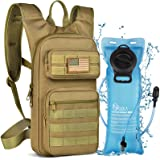 NOOLA Hydration Backpack with 3L TPU Water Bladder, Tactical Molle Water Backpack for Men Women, Hydration Pack for Hiking, B