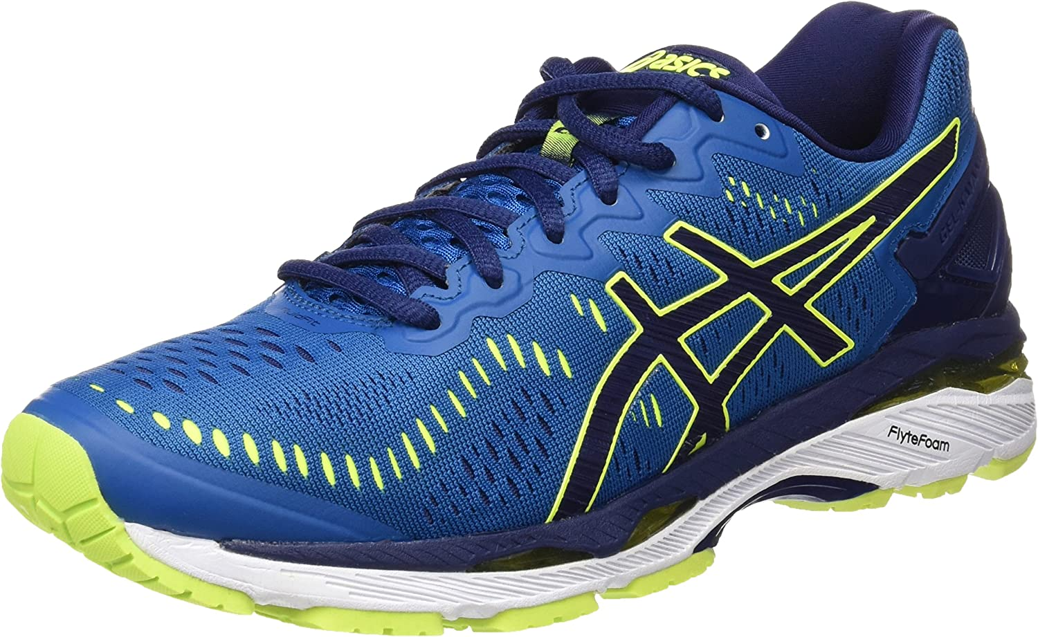 Asics T646N4907, Zapatillas de running para Hombre, color: Azul (Thunder Blue/Safety Yellow/Indigo Blue) , 48.5 EU: Amazon.es: Zapatos y complementos