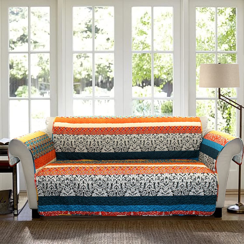 Amazon Lush Decor Boho Stripe Slipcover Furniture Protector