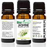 BioFinest Jasmine Essential Oil - 100% Pure Undiluted - Therapeutic Grade - Premium Quality - Best For Aromatherapy, Deep Sleep, Stretch Marks and Dry Skins - FREE E-Book (10ml)