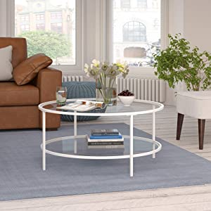 Henn&Hart Round coffee table, White