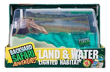 Amazoncom Backyard Safari Land And Water Lighted Habitat Toys - Backyard safari outfitters butterfly habitat review