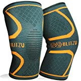Amazon Price History for:Blitzu Flex Plus Knee Compression Sleeves Brace Support Pair for Joint Pain, Arthritis Relief, Injury Recovery, Improve Circulation, Protect Patella, Best Sleeve for Men Women Elder Running, Walking