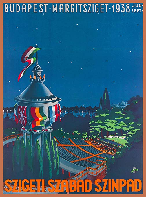 Hungary Hungarian Budapest Cathedral Europe Vintage Travel Advertisement Poster