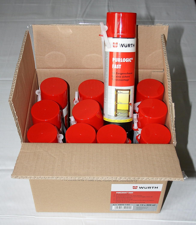 12 x Würth Espuma de poliuretano Espuma purlogic Fast - 2 K Espuma de montaje Diseño zargen Espuma: Amazon.es: Bricolaje y herramientas