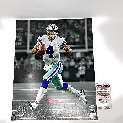 437b50154 Dak Prescott Dallas Cowboys Signed Autograph 16x20 Photo Photograph  Spotlight DAK Player Holo   JSA Witnessed