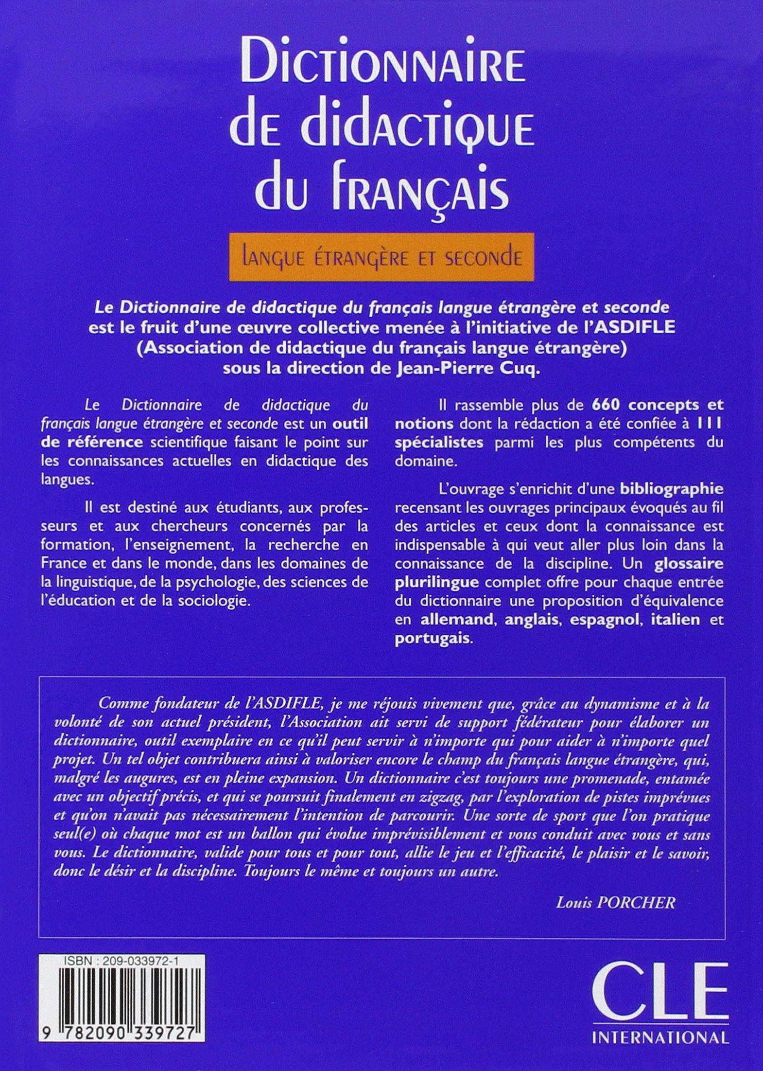 Asdifle Dictionnaire De Didactique Du Français Langue étrangère Et