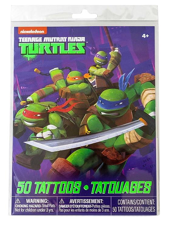 Savvi 50 Temporary Tattoos, Nickelodeons Teenage Mutant Ninja Turtles, 3-pack (150 Tattoos)