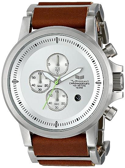 Vestal PLE034 - Reloj de Pulsera Hombre, Color Marrón