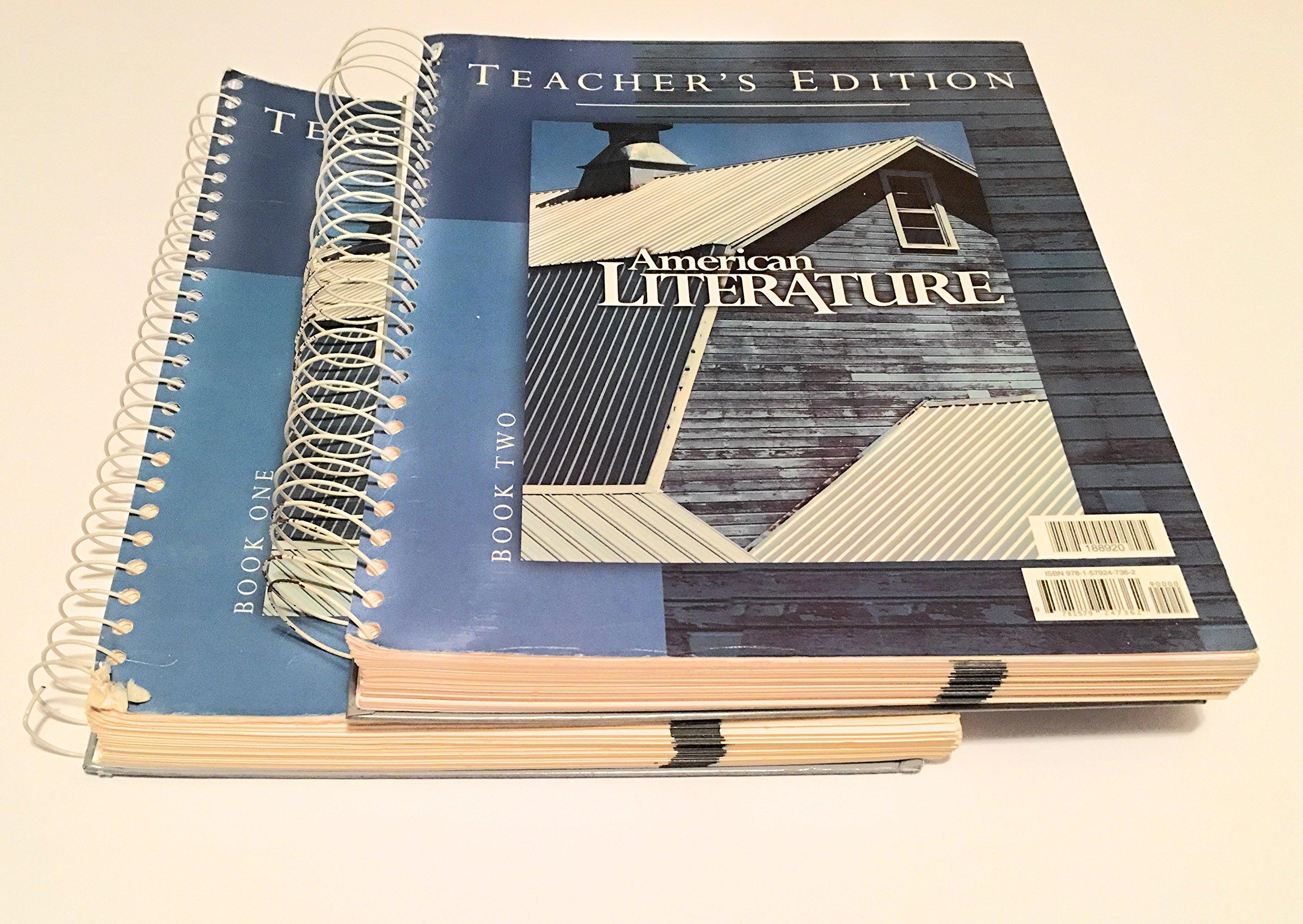 American Literature For Christian Schools Teachers Edition 2 Books
