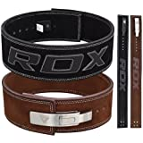 RDX Cow Hide Leather Gym Weight Lifting Lever Buckle Powerlifting Belt Fitness Exercise Bodybuilding