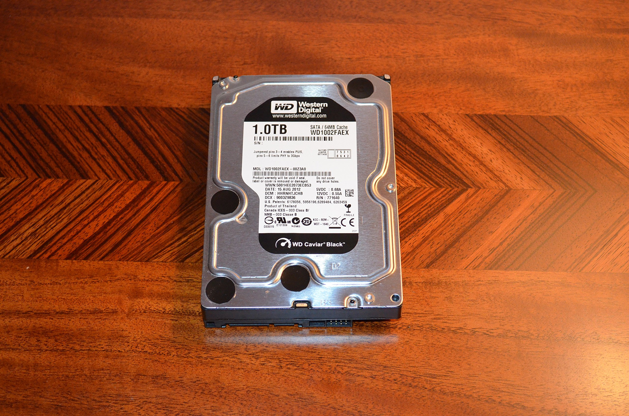 NEW - 1TB 7200RPM 64MB SATA/600, 3.5INCH, CAVIAR BLACK SERIES 2ND GEN., 5 YEAR WARRANT - WD1002FAEX by PC WHOLESALE EXCLUSIVE