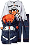 Boys Rock Baby-Boys BFPVS 3pc Fashion Puffer Vest Sets Pants Set