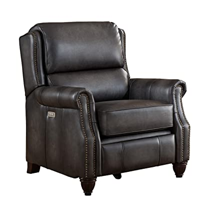 Swell Amazon Com Coja By Sofa4Life Stanton Leather Power Recliner Pdpeps Interior Chair Design Pdpepsorg