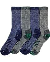 Outdoor Trail Socks, Merino Wool Blend, 4 pairs