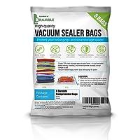 BRAMBLE! Premium High Strength Seal - Vacuum Bags Storage Set - SAVING SPACE = SAVE MONEY - Multi Pack 20 Bags