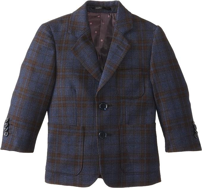 Isaac Mizrahi Black Label Little Boys Checkered Wool Blazer