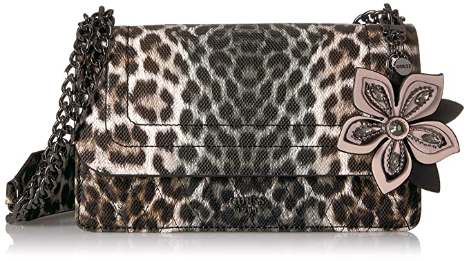 96955830c845 GUESS Sibyl Leopard Convertible Crossbody Flap  Amazon.in  Clothing    Accessories